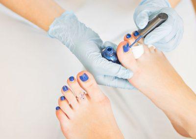 Fuß Nagellack Kosmetikschule Döpfer