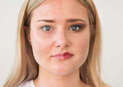 Vorher Nachher Vergleich Make-Up Augen auf
